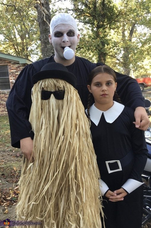 Uncle Fester Cousin It Wednsday, The Addams Family Costume