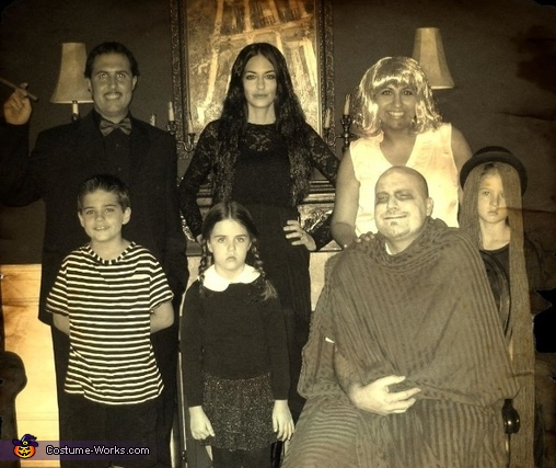 The whole gang, The Addams Family Costume
