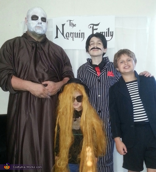 The Boys as The Addams Family, The Addams Family Movie Costume