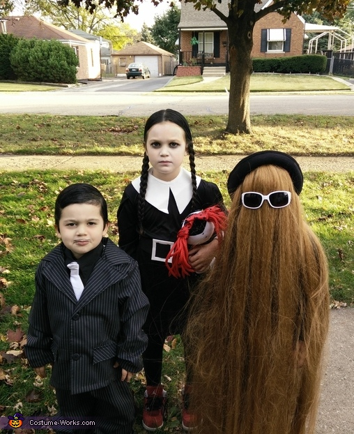 My three younger kids, The Addams Family Costume