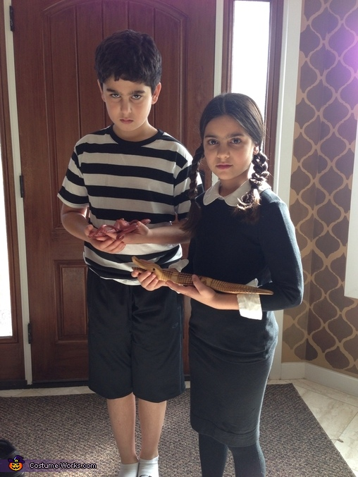 Pugsley and Wednesday, The Addams Family Costume