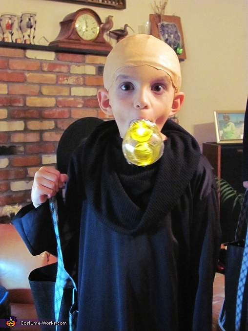 Uncle Fester- Our 7 year old, The Addams Family Costume