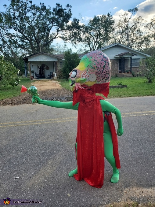 The Alien Ambassador from Mars Attacks! Homemade Costume