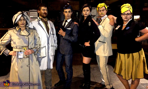 The Archer Cast Group Costume