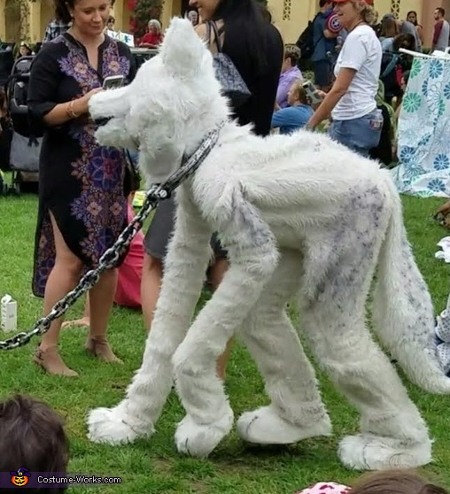 Side view to see joints, The Arctic Wolf Costume
