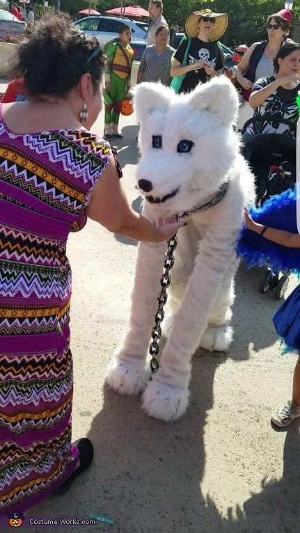 chin scratch, The Arctic Wolf Costume