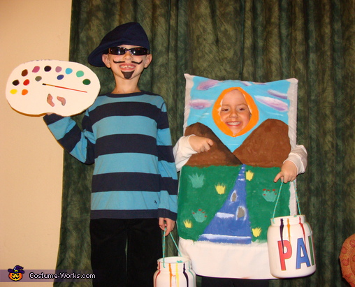 Artist and his Masterpiece - Homemade costumes for kids