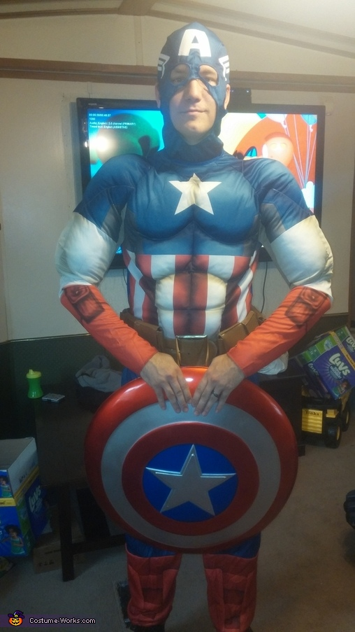 My husband, Joe, as Captain America., The Avengers Costume