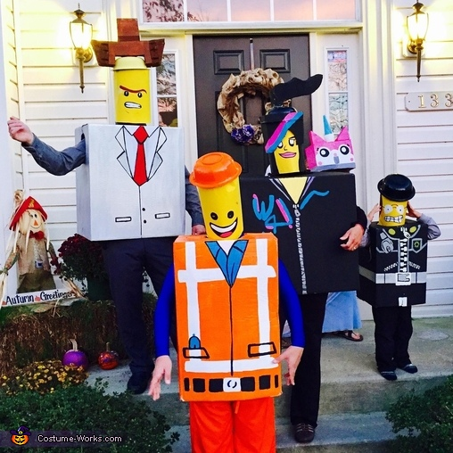 The Awesome Lego Family Costume