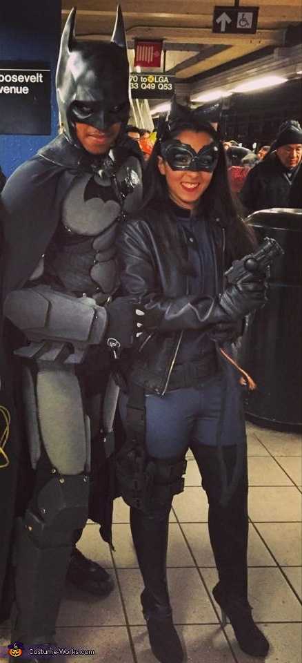 Bat and Cat selfies, The Batman & Catwoman Costume