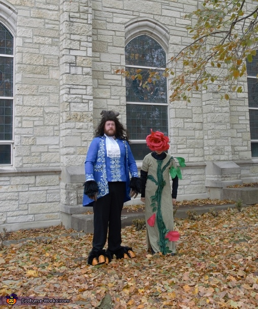 The Beast and Rose at the Castle Homemade Costume