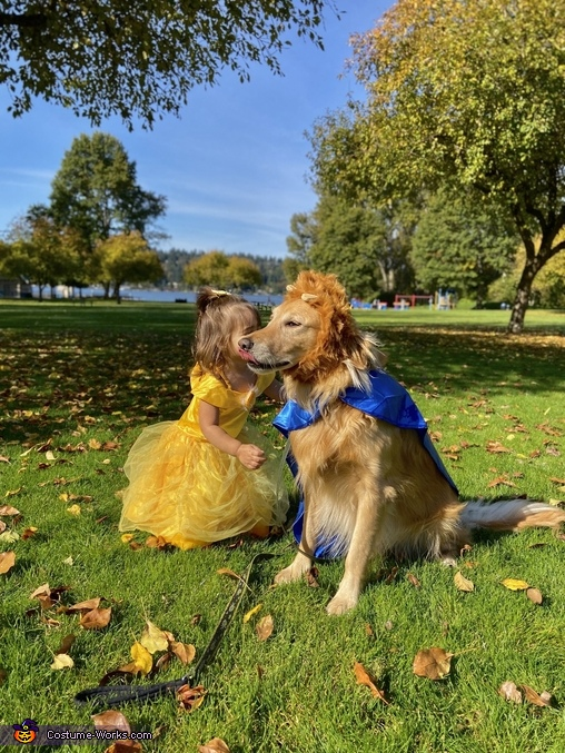 Serena and Kobe, The Beauty and The Beast Costume