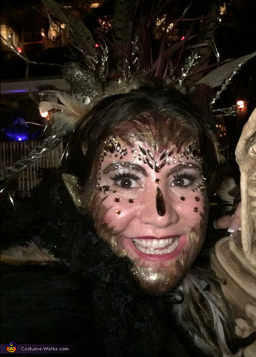 Close up, The Bird Woman Costume