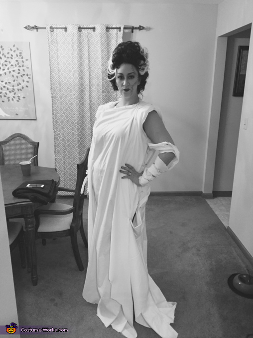 The Bride of Frankenstein Homemade Costume