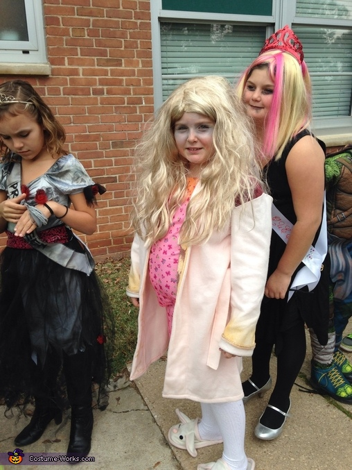 The Bunny Slipper Girl Homemade Costume