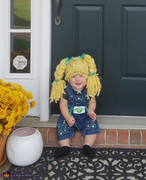 Ready for her treat, The Cabbage Patch Kid Costume