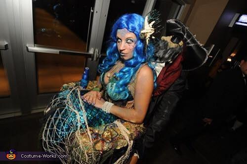Top view of 'The Captured Mermaid', The Captured Mermaid Costume