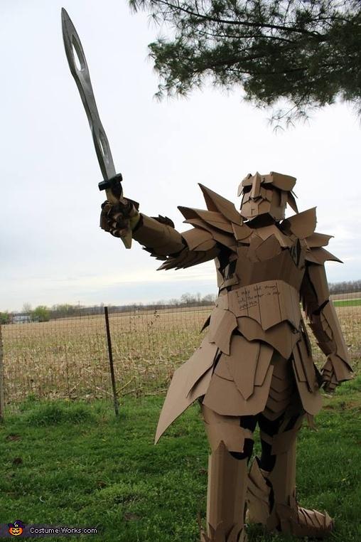 The Cardboard Warrior Costume