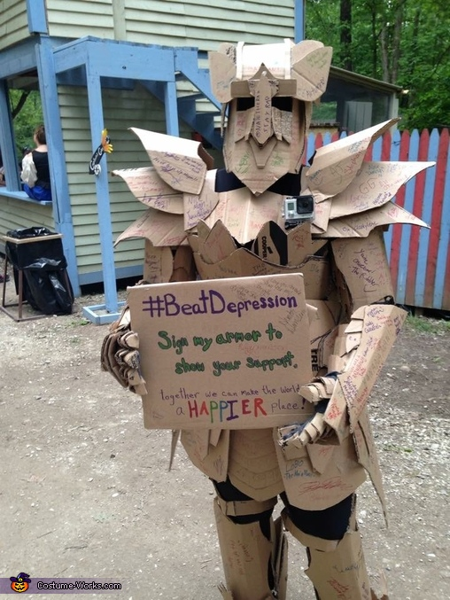 A fan of mine took this picture., The Cardboard Warrior Costume