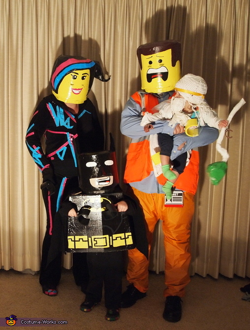The Cast of the Lego Movie Family Costume