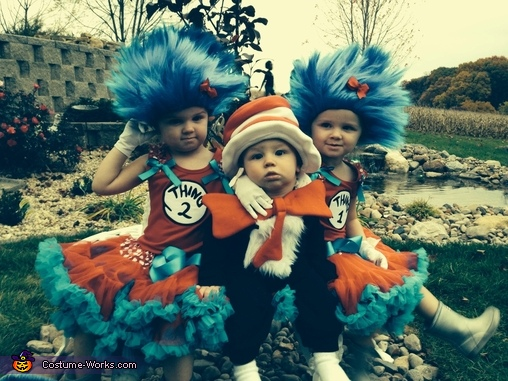 The Cat in the Hat and Thing 1 & Thing 2 Costume