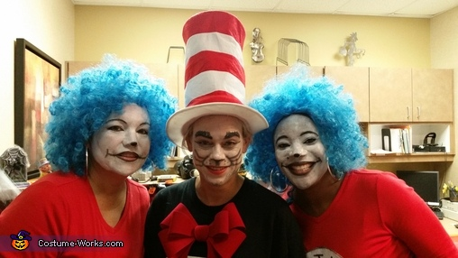 The Cat in the Hat and Thing 1 & Thing 2 Homemade Costume