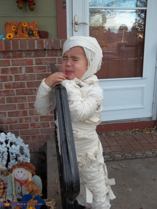 The Crying Mummy - Homemade costumes for kids