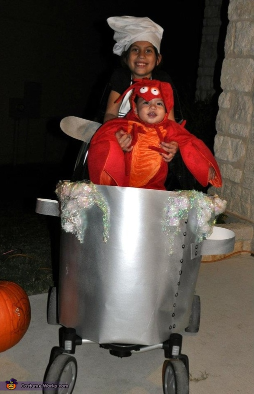 The Cutest Lobster Boil Stroller Costume