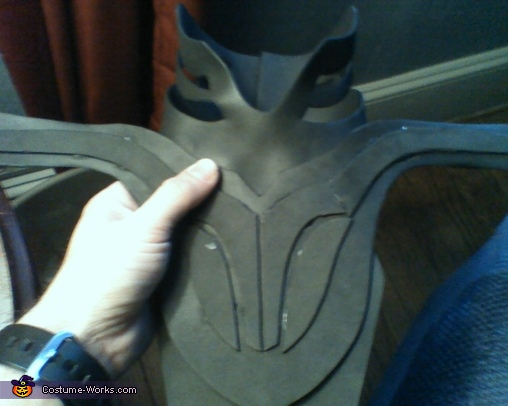 Craft Foam Chest WIP, The Dark Knight Costume