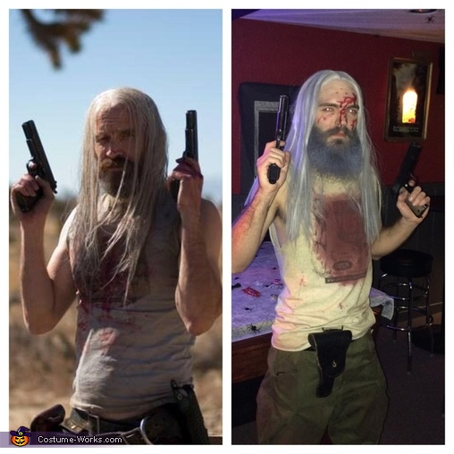 Left- Otis from the movie The Devil's Rejects.  Right- My costume!, The Devil's Rejects Otis B. Driftwood Costume