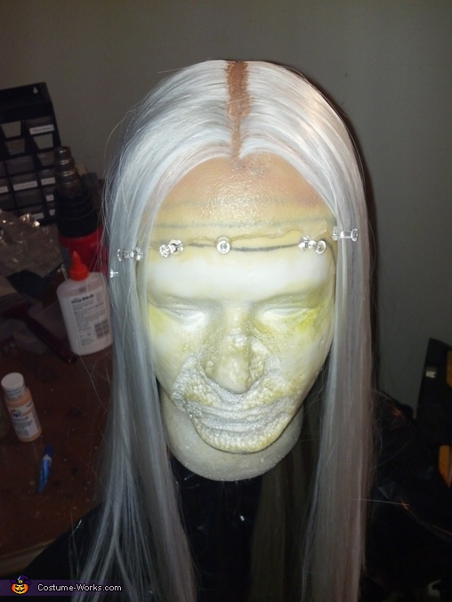 The wig just before the last layers of hair were added., The Devil's Rejects Otis B. Driftwood Costume
