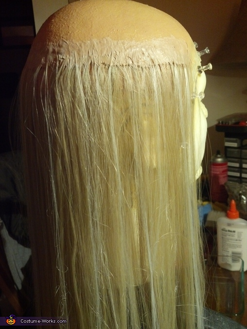 The wig in the early stages. I had no clue what I was doing, but it came out so much better than I hoped it would!, The Devil's Rejects Otis B. Driftwood Costume