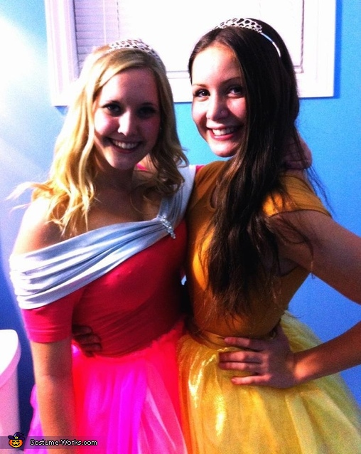 the two 'beauties', The Disney Princesses Costume