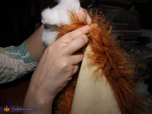 Stuffing the Lion Dog Costume, The Dog Claw Machine Costume