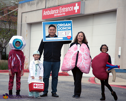 The Donate Life Family Costume