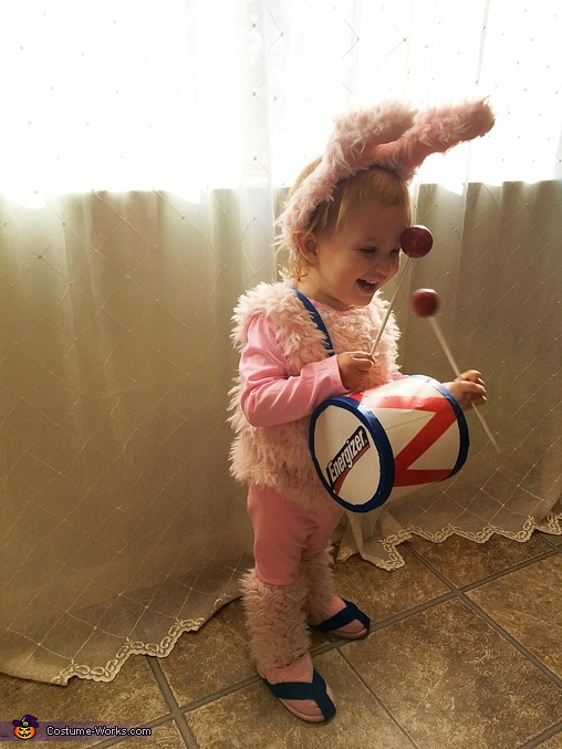 The Energizer Bunny Baby Homemade Costume