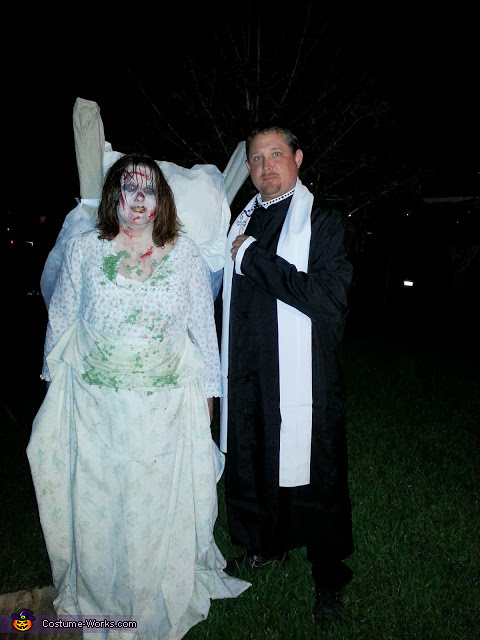 The Excorist Regan and the Priest Couple Costume