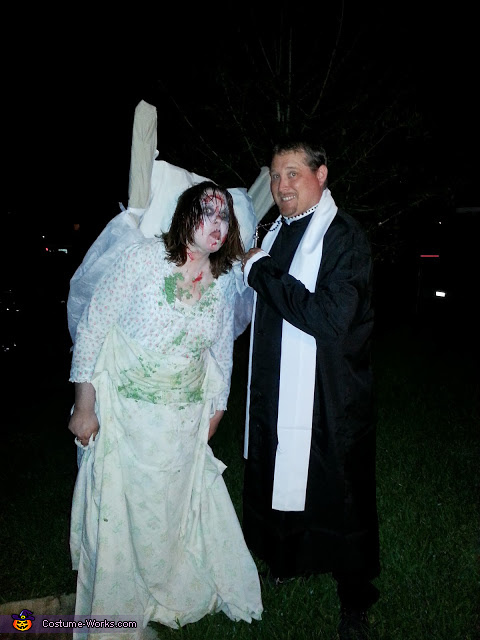 reagan and the priest, The Excorist Regan and the Priest Couple Costume