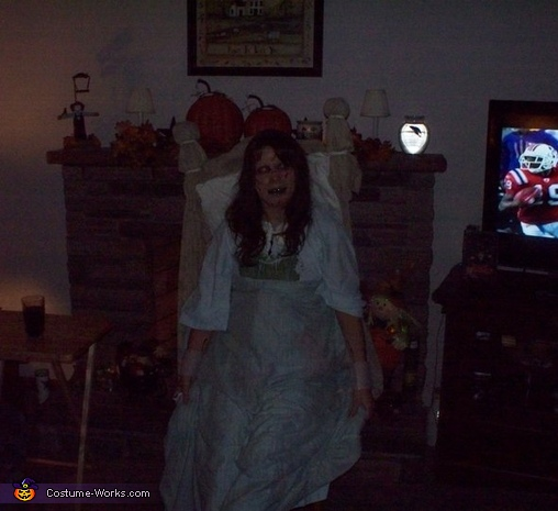 this is a far away shot so you can see the whole bed thats attached!, The Exorcist!! Reagan Costume
