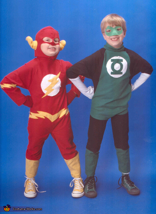 Flash and Green Lantern - Homemade costumes for boys