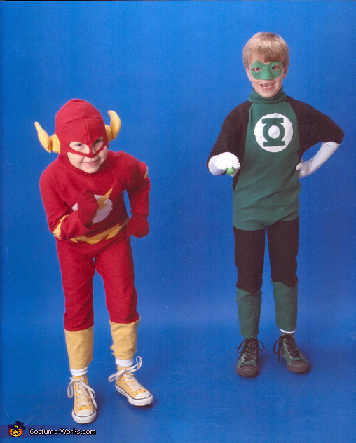 Superheroes Spring into Action, The Flash and Green Lantern Superheroes Costume