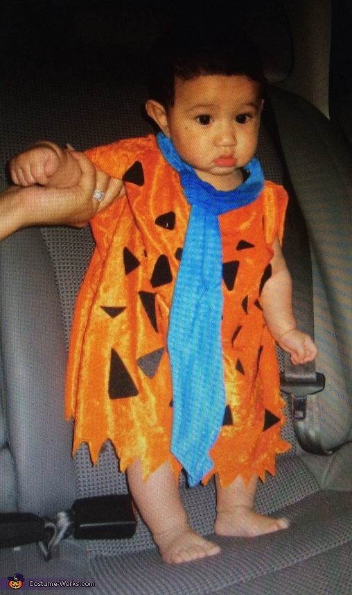 Fred ready to head home, The Flintstones Baby Costume