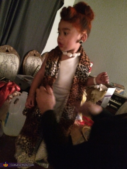 Getting ready, The Flintstones Baby Costume