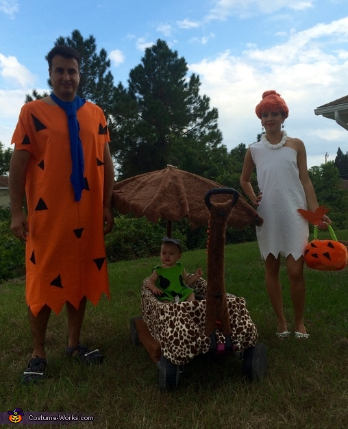 Fred, Wilma and Pebbles 2015, The Flintstones Costume