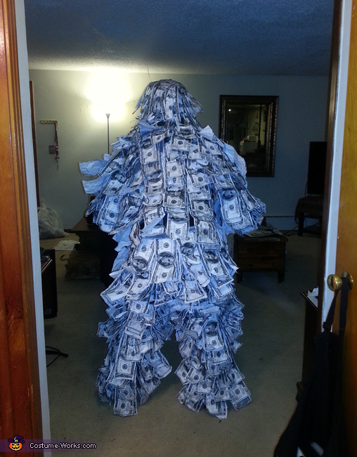 Back View, The Geico Money Man Costume