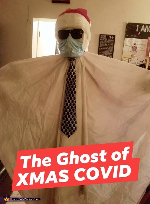 The Ghost of Christmas Covid Homemade Costume