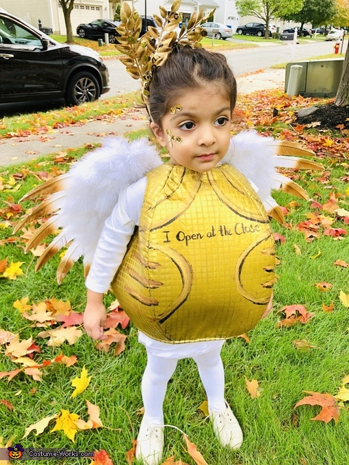 Golden Snitch Halloween Costume! I love Harry Potter ... |Diy Golden Snitch Costume