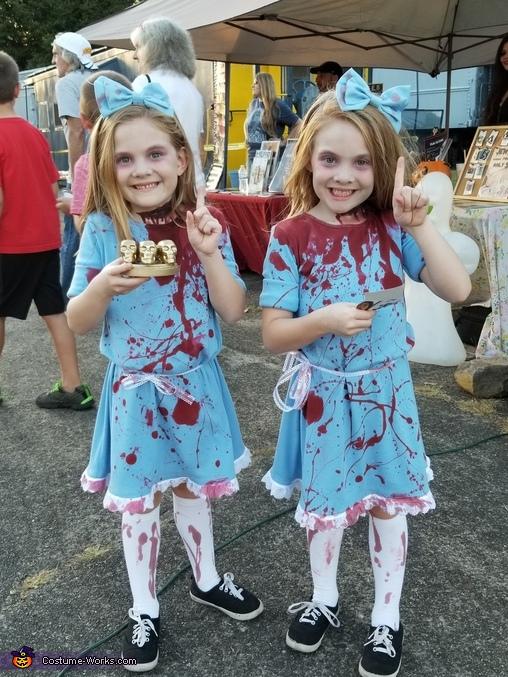 Halloween Costume 4 5.The Shining Grady Twins Halloween Costume Photo 4 5