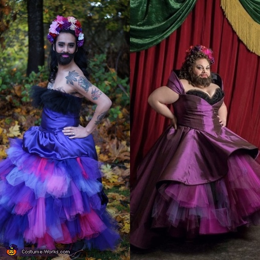 Side by side with Keala Settle, The Greatest ShowFAM Costume