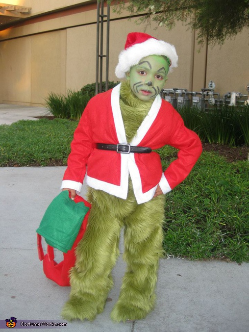The grinch who stole christmas costume for boys